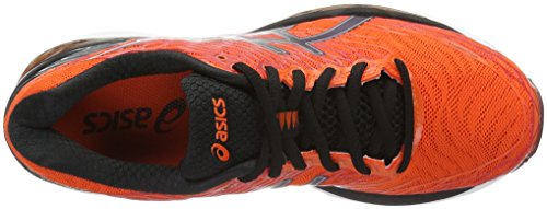 Asics Gel-Nimbus 18, Zapatillas de Running Para Hombre Naranja (Flame Orange/Black/Silver)
