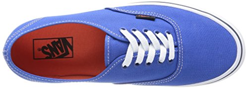 Vans U Authentic - Baskets Mode Mixte Adulte - Bleu (Strong Blue/Nasturtium) - 36.5 EU