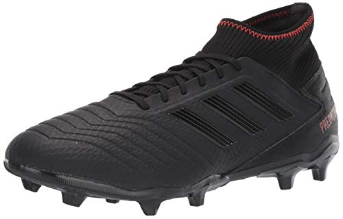 adidas Men's Predator 19.3 Firm Ground, Black/Active red, 10.5 M US