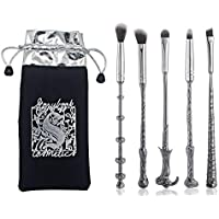 5 Pcs Makeup Brushes ,For Harry Potter Fans Wizard Wand Set Kit ,in a Gift Bag, Perfect for Eyebrows, Eyeshadow Palette…