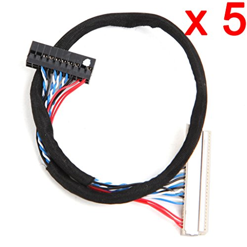 C.J. SHOP 5 PCS FIX D6 30-20 Fix-30P-D6 LVDS Cable 1Ch 6 Bit 30Pin for LCD Panel/Screen/Display