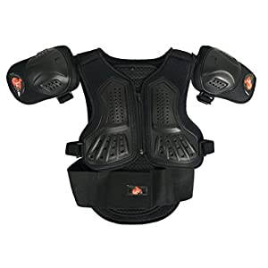 Kids Motorcycle Armor Suit Dirt Bike Chest Spine Protector Back Shoulder Arm Elbow Knee Protector Motocross Racing Skiing Skating Body Armor Vest Sports Safety Pads 3 Colors (Black, M)