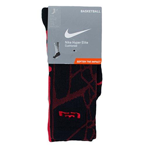 Nike Herren Hyper Elite Cushioned Crew Socken Schwarz Rot