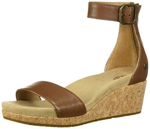 UGG Women's Zoe II Wedge Sandal, Chestnut, 7 M US ()