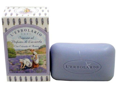 Lavanda (Lavender) Perfumed Soap Bar with Oat Extract by L'Erbolario (Lavender Perfumed Soap)
