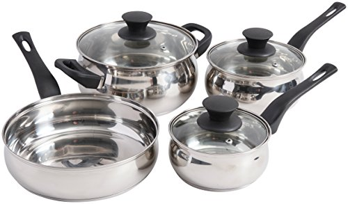 Sunbeam 111923.07 Branson Cookware Set, 4 quart, Stainless S