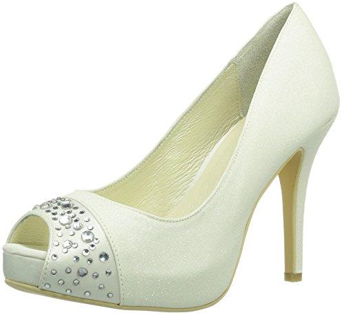 Menbur Wedding Nati - Zapatos de tacón Mujer Ivory 004