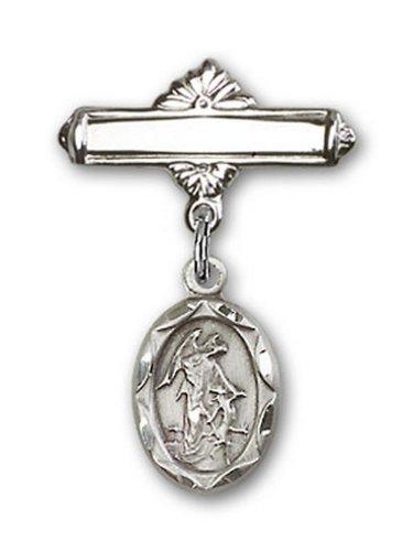 Icecarats Créatrice De Bijoux En Argent Sterling Tuteur Charme D'Ange Broche De Badge 1 X 5/8