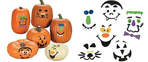 Pumpkin decorating craft kits - 50 pc bulk (Halloween Pumpkin Decorating Kits)