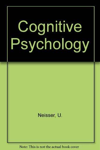 Cognitive Psychology (century psychology series)