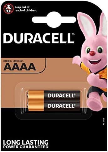 Duracell - Pilas especiales alcalinas AAAA de 1.5V, paquete de 2 unidades (LR8D425) diseñadas para lápices digitales, dispositivos médicos y faros