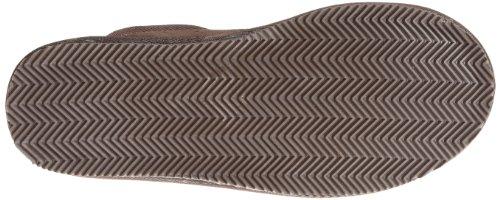 Muk Luks Menns Dave Trykte Berber Semsket Skrapemerker-brun Tøffel Sjokolade