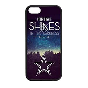 "Canting_Good ""Stars Can't Shine Without Darkness"" Custom Case Shell Cover for iPhone 5 5S TPU (Laser Technology)"