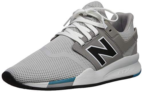 New Balance Men's 247 V2 Sneaker, rain Cloud/Black, 4 D US