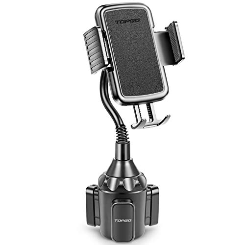 [Upgraded] TOPGO Cup Holder Phone Mount Universal Adjustable Gooseneck Cup Holder Cradle Car Mount for Cell Phone iPhone…