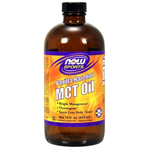 Vanilla Hazelnut MCT Oil Now Foods 16 fl oz Liquid