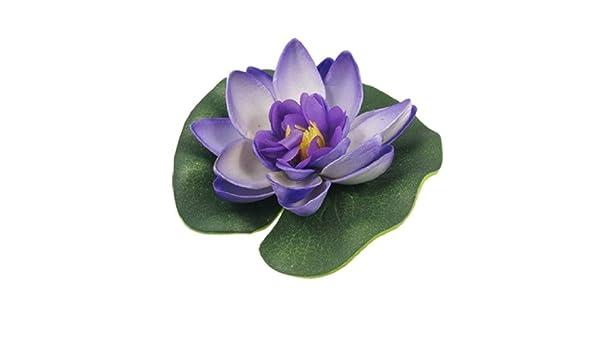Amazon.com: eDealMax Jardin espuma Aquascaping Lotus ornamento ...