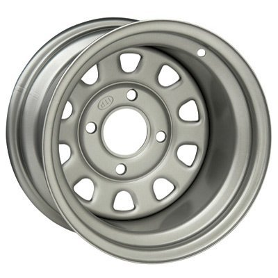 4/137 ITP Steel Wheel 12x7 4.0 + 3.0 Silver BOMBARDIER CAN-AM KAWASAKI SUZUKI