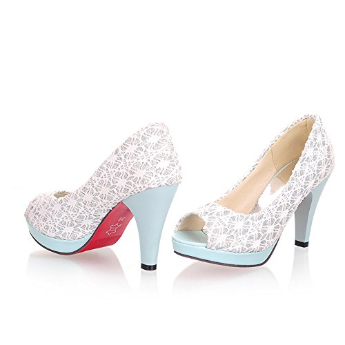 Fashion High Stiletto Heel Women Dressy Court Shoes party work shoes pumps Blue