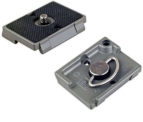 Extra Quick Release Plate - IVATION Quick Release Plate for the RC2 Rapid Connect Adapter (SET OF 2) for MANFROTTO MHXPRO-3W, MHXPRO-2W, MHXPRO-BHQ2, MHXPRO-3WG XPRO Tripod Heads