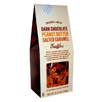Trader Joe's Dark Chocolate Peanut Butter Salted Caramel Truffles (Pack of 2) - Chocolate Salted Butter