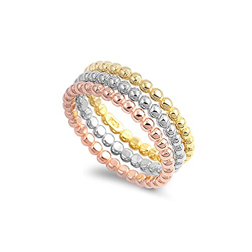 Beaded Stackable Ring Set - Size 7 ()