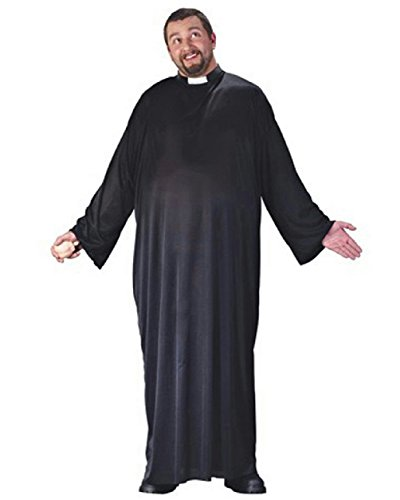 Faith Priest Costumes (Big and Tall Men's Keep up the Faith Naughty Priest Plus Size Adult Costume)