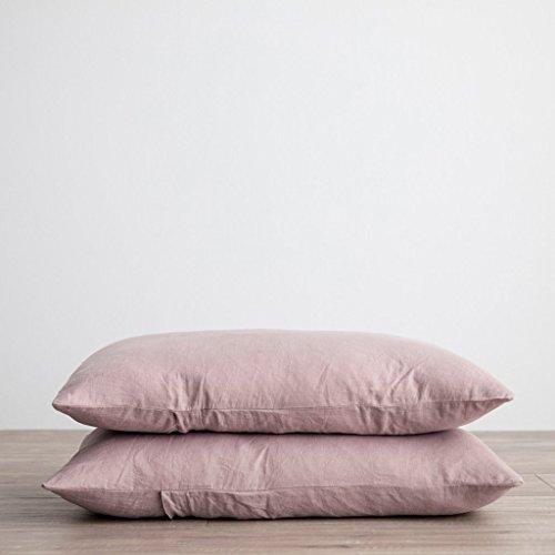 Linen Pillowcase - Merryfeel 100% Linen Extra Pillow Covers - Set of 2