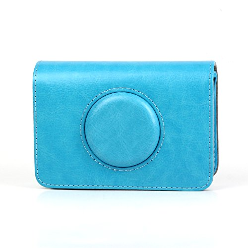 Wogozan Blue PU Leather Case Bag for Polaroid Snap Touch Camera