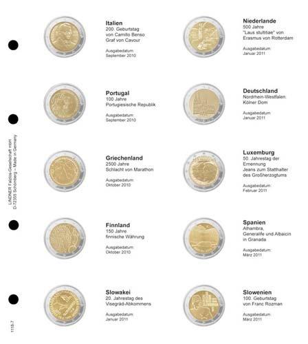 Lindner 1118 1118 – – 8 Illustratedページ2 Euro Commemorative chronologically :共通問題10年ユーロ Commemorative B01HBULMNA, バルドンフィルステージ:ce4dc33e --- sharoshka.org