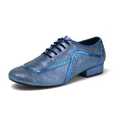 Firkantede blå Moderne latino Dansesko Hæle Nonpersonalizable Sort Blå Claque Y4FqXWga