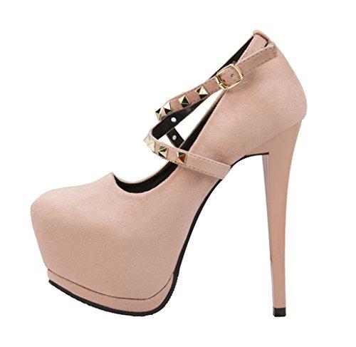 Makegsi Womens Ladies Pumps Tacco Alto Platorm Pumps Sweet Us Scarpe Club Wear Geige