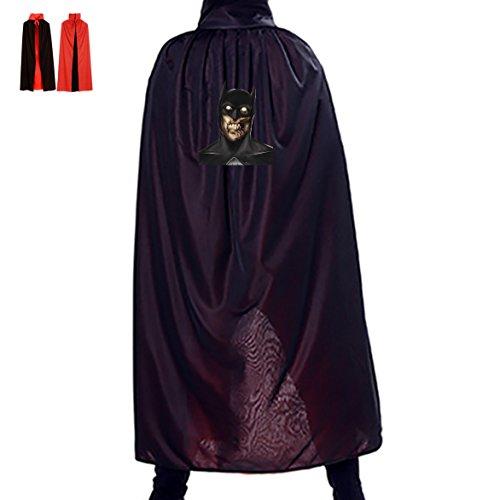 Bruce Wayne Reversible Halloween Cloak Vampire Cosplay Costume Witch Props