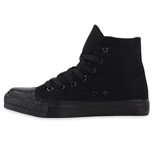 Stiefelparadies - Zapatillas altas Mujer negro-negro