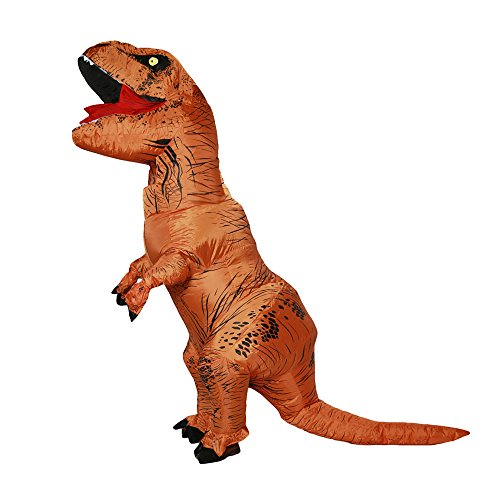 Inflatable Dinosaur Costume Adult Halloween Fancy Dress Chirstmas Cosplay outfit (220CM,81.61