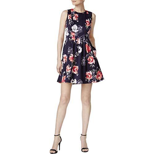 - Jessica Howard Womens Petites Floral Print Knee-Length Cocktail Dress Navy 14P
