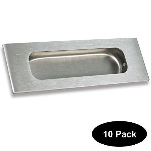 (10 PCS Rectangular+Oval Recessed Sliding and Pocket Door Handles Kitchen Cabinet Flush Finger Pulls 120mm40mm(4.8