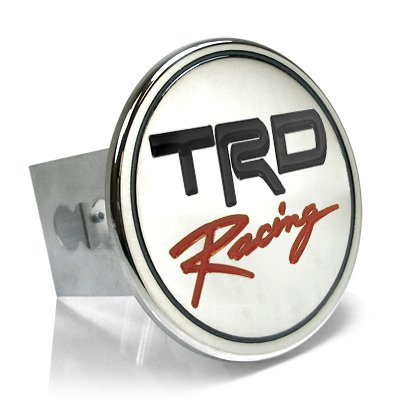 (Toyota TRD Racing Chrome Metal Tow Hitch Cover, Official Licensed)