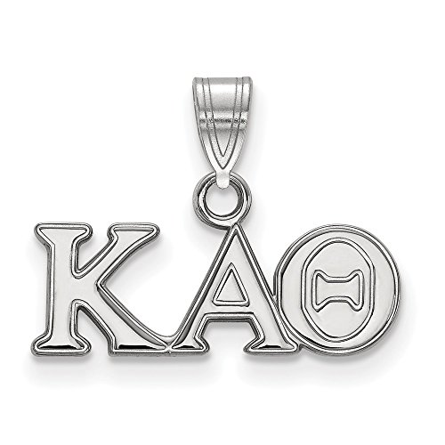 Roy Rose Jewelry Sterling Silver Kappa Alpha Theta Small Pendant
