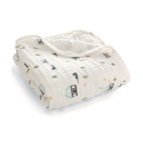 - Miracle Baby Muslin Swaddle Blankets Large Cotton Receiving Blanket Nursing Cover 59''x 39'' (2 Layers, Snow House)