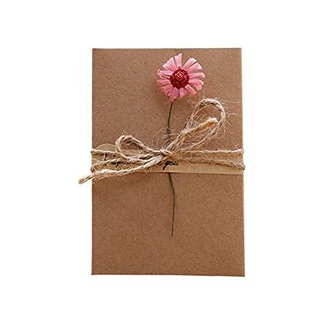 Tarjetas Y Invitaciones Retro Papel Kraft Flores