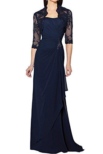 Marino trapecio Topkleider para Azul mujer Vestido qAU7xX0