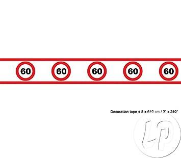 Banda Tráfico cartel 60 cumpleaños 8 cm de altura 610 cm de ...