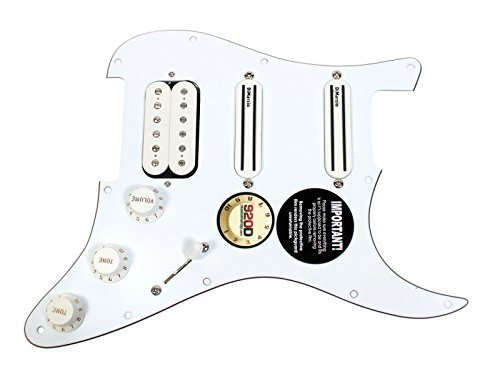 DiMarzio Andy Timmons Loaded Strat Pickguard DP224F AT-1, DP187 Cruiser White from DiMarzio