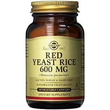 Amazon.com: Solgar – Red Yeast Rice, 60 Vegetable Capsules
