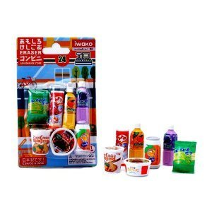 Importiert aus Japan Iwako japanische Radierer / Snacks Marken mit recycelbaren PVC-Material, Blei und Phthalate frei gemacht