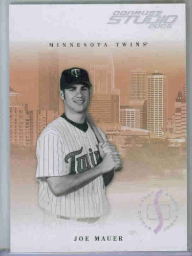 Joe Mauer Studio - Joe Mauer 2005 Donruss Studio #169 Silver Proof Parallel #81/100 - Minnesota Twins