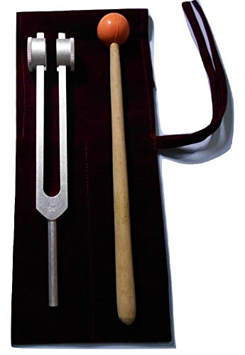 OM Tuner Tuning Fork 136.1 Hz with Mallet & Velvet Pouch Free OM INDUSTRIES