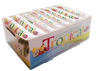 Necco Tropical Wafers 2oz Rolls - 24ct Box by Necco