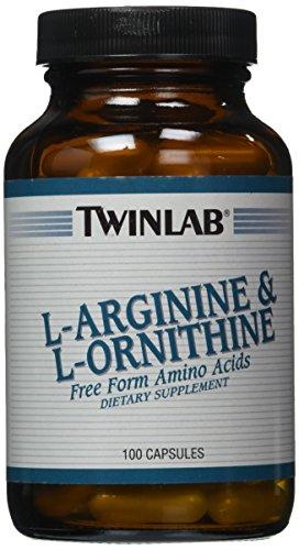 L-ornithine 100 Capsules (Twinlab L-Arginine and L-Ornithine, 100 Capsules)